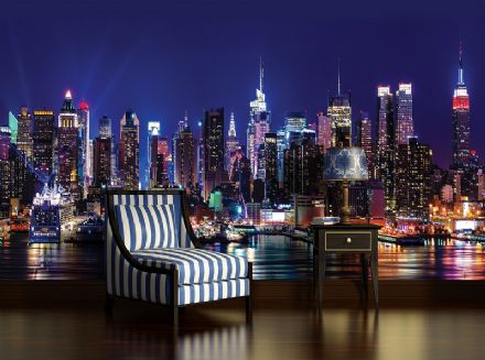 City at night wallpaper murals New York